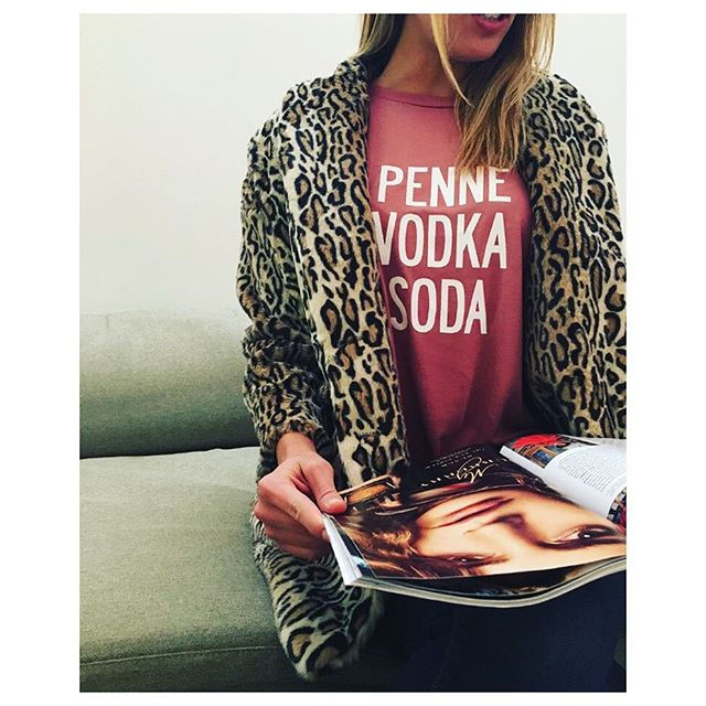 PENNE VODKA SODA - Now that's our kind of dinner & drinks! Shop new arrivals now through the link in our bio ✨#candysnacks 🍝🍸 (📸: @agpow) • • • #drinks #vodka #cheers #cocktails #fashion #ootd #mylook #outfit #foodie #trend #tees #tanks #novelty #nyc #style
