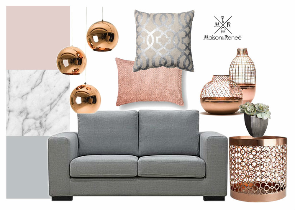 COLOR INSPIRATION BlushGreyCopper Maison by Renee