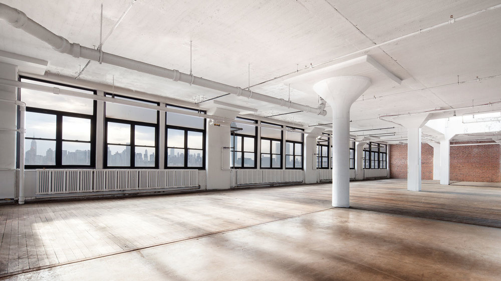 Renovated interior of the Factory Building, at 30-30 47th Avenue in Long Island City
