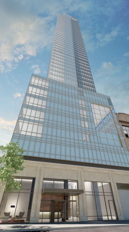 Caption: Rendering of Property Markets Group's rental tower at 23-10 Queens Plaza South in Long Island City (credit: PMG)