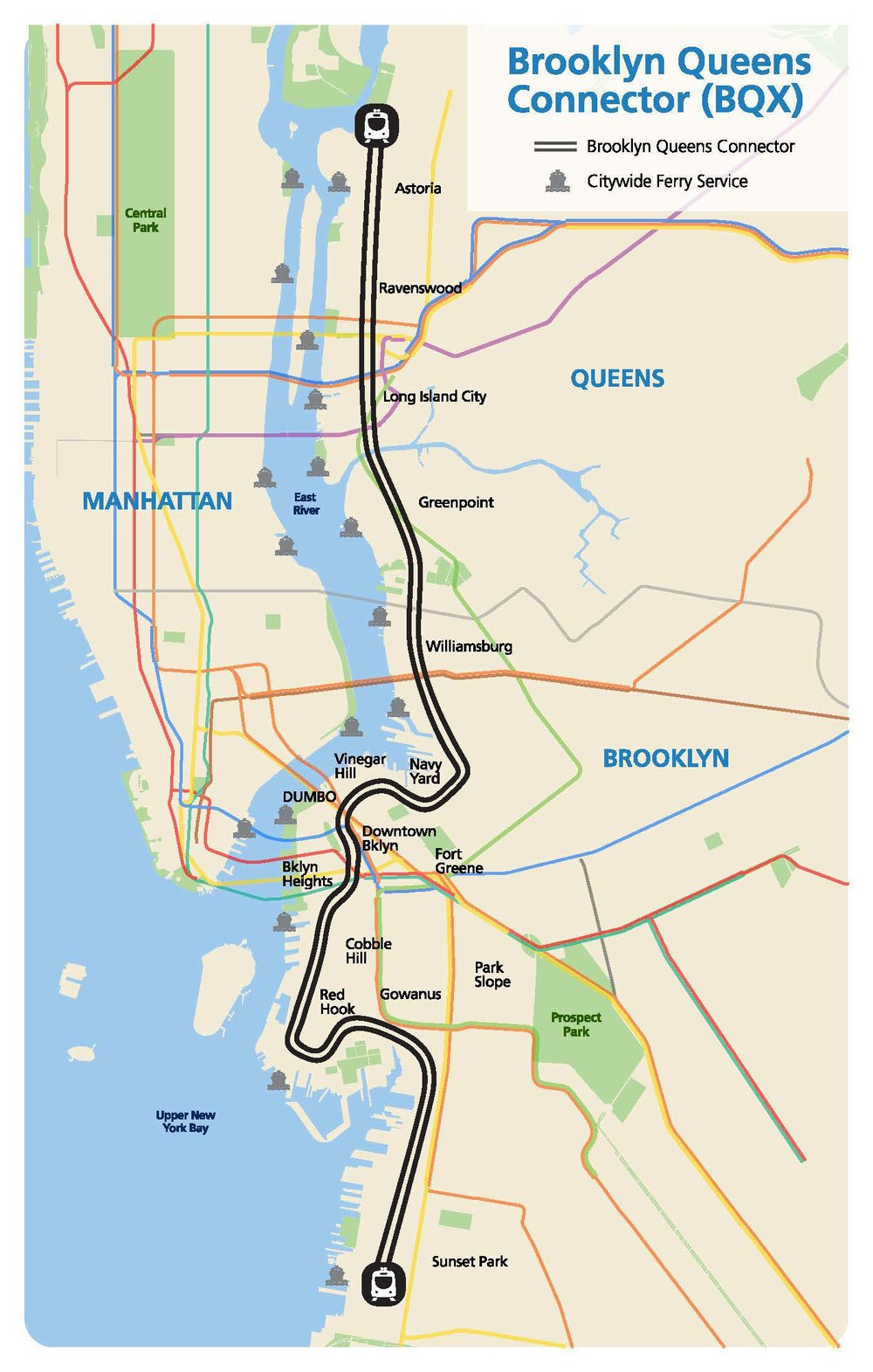 Proposed route for Brooklyn-Queens Connector (credit: NYC EDC)