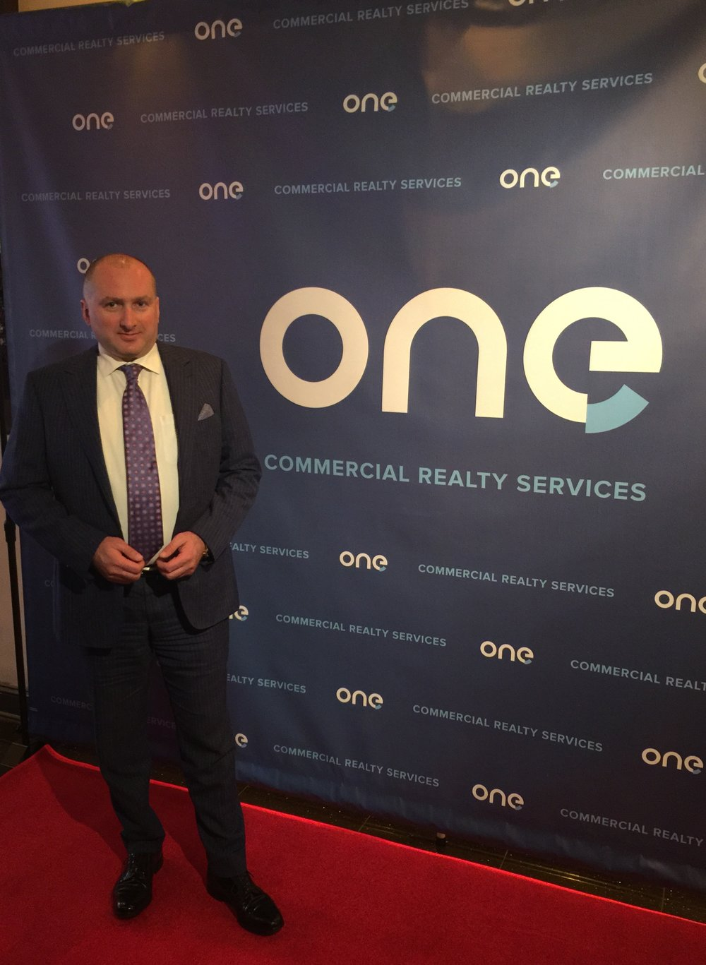 David Chase at an event celebrating the launch of ONE Commercial Realty Services