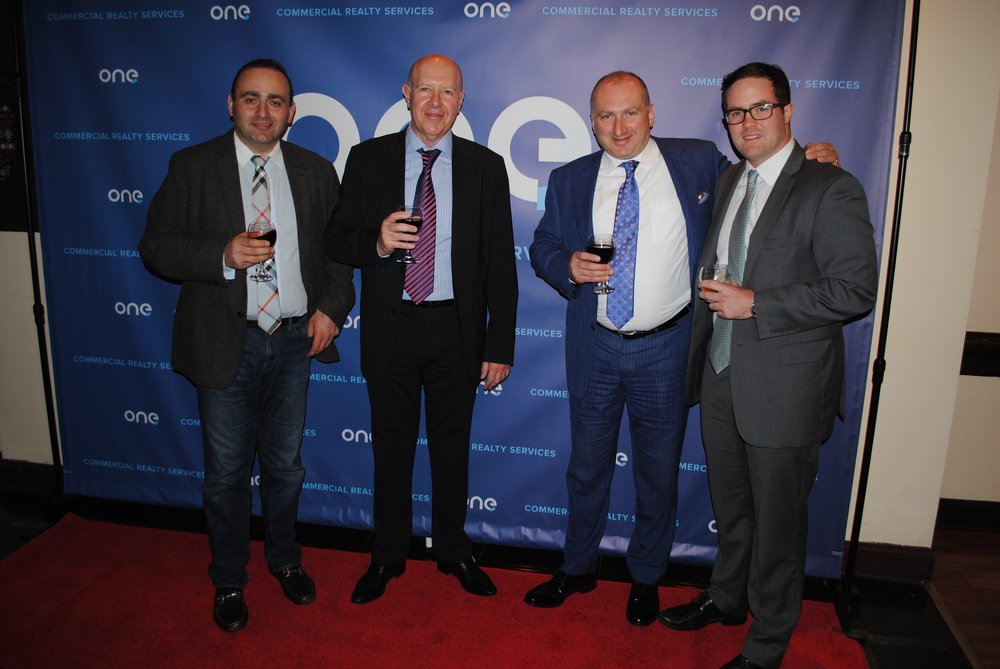David Chase and friends at an event celebrating the launch of ONE Commercial Realty Services