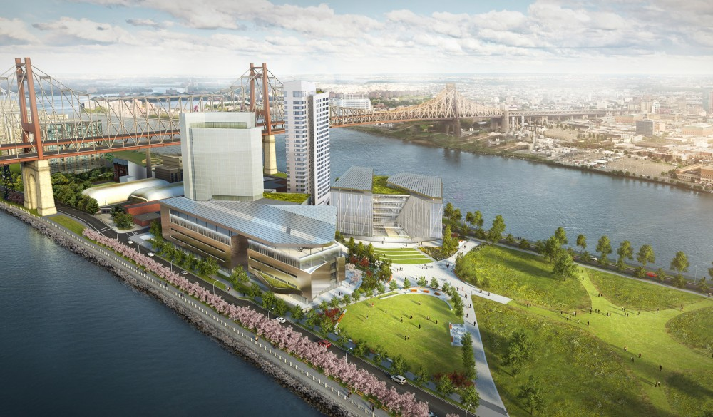 Rendering of the Cornell Tech campus on Roosevelt Island