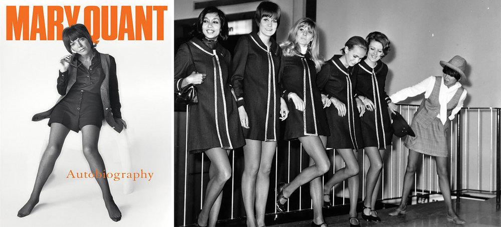 Autobiographie de Mary Quant,2012 / Les mannequins prennent la pose en mini robe (Getty image)