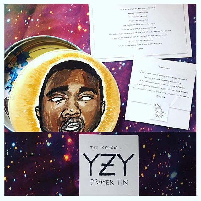 🙏let us pray.  Our father, who art named Yeezus Hallowed be thy fame Thy Kingdom Come Thy lyrics hummed on earth as they are in heaven  Give us this day our high couture And forgive us our debts as our Lady Kim has forgiven yours Lead us to serpenticide by delivering us Swift verses, For thine is the kingdom We trip off your power and glory forever,  Amen.🙏 #hypebeast #hypebeastprayer #prayer #kanyewest #yeezus #kimkardashian