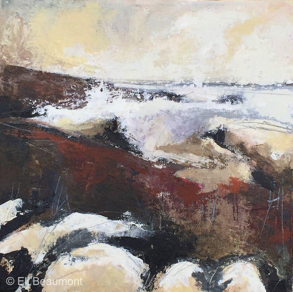 Cliff Walk - acrylic on canvas  30x30cm SOLD