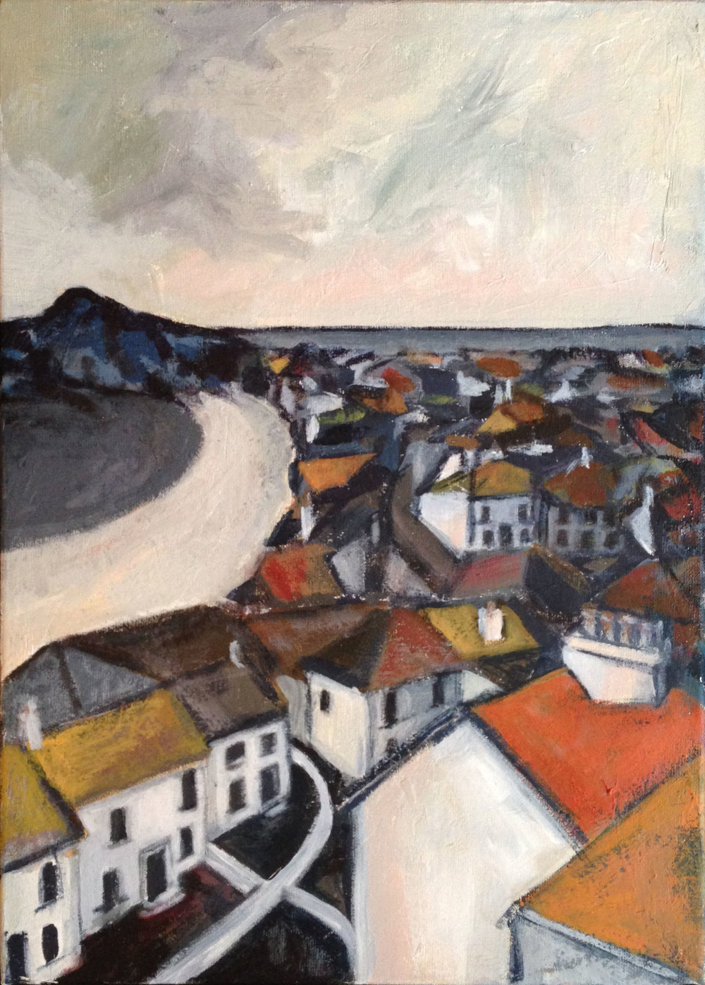 St Ives Roofs - acrylic on canvas  25x35cm £200