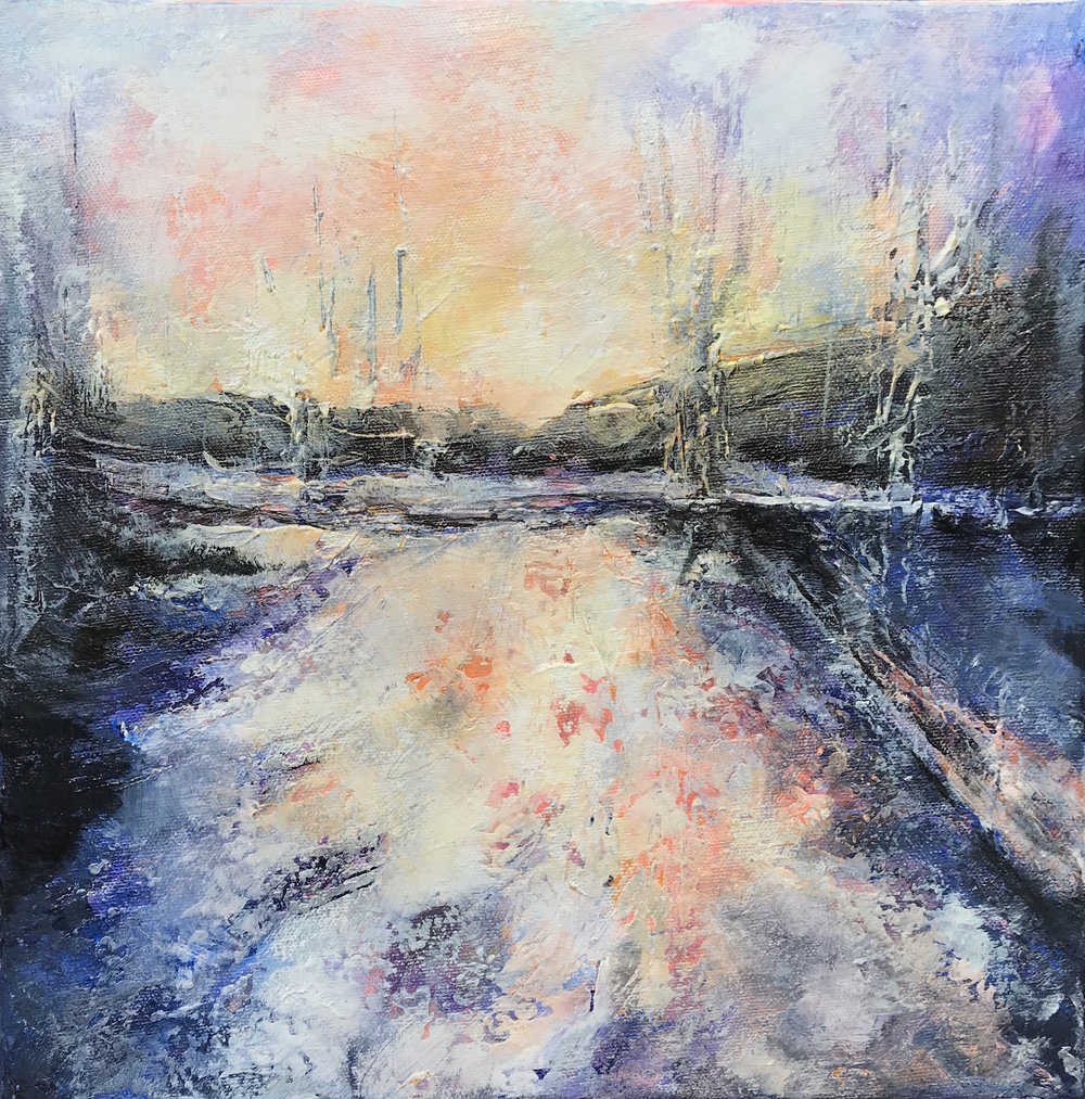 Snow Day 1 - acrylic on canvas  30x30cm £150