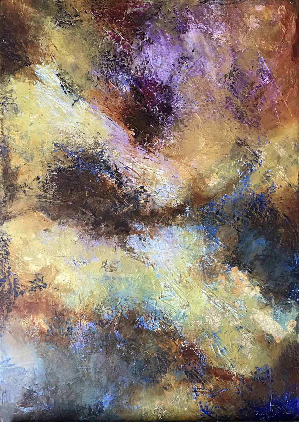 Nebula - acrylic on canvas  50x70cm £375
