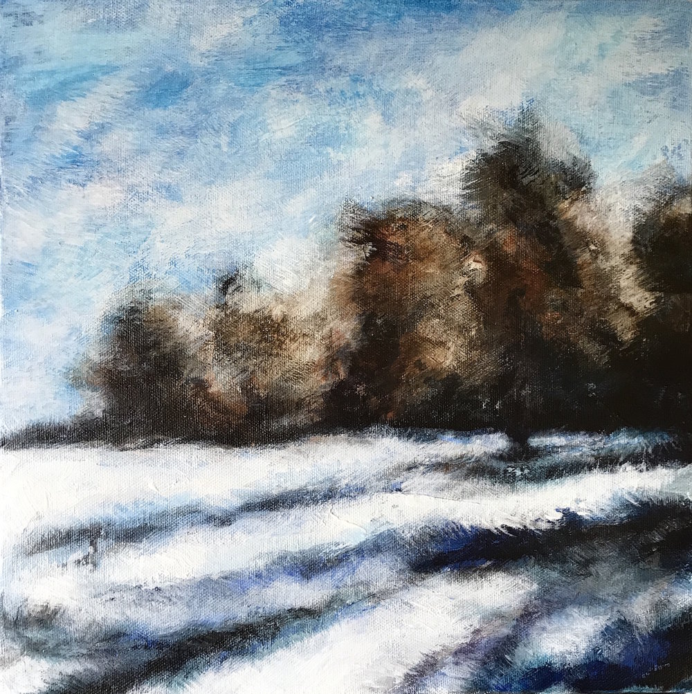 Snow Day 2 - acrylic on canvas    30x30cm   SOLD