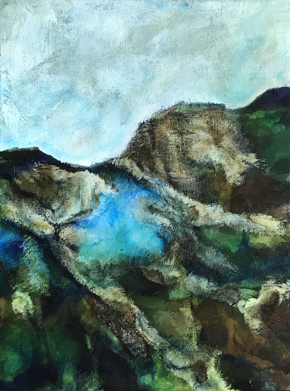 Malham - acrylic on canvas 30x40cm  £110