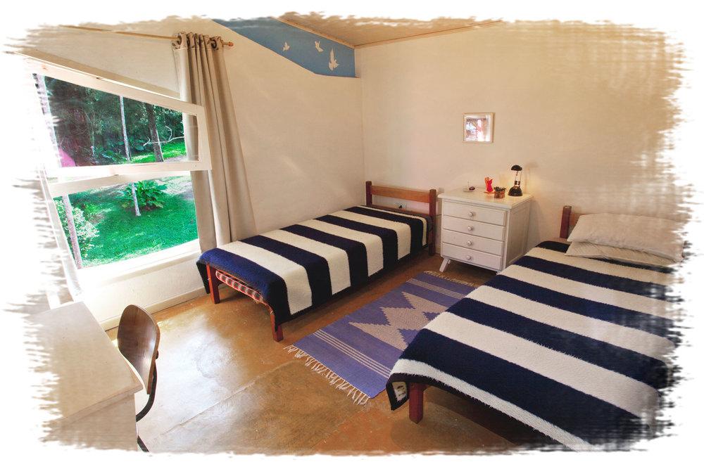 Apartamento com banheiro externo
