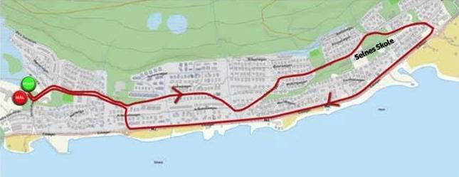 Dette er ruten for Storelvtun-løpet