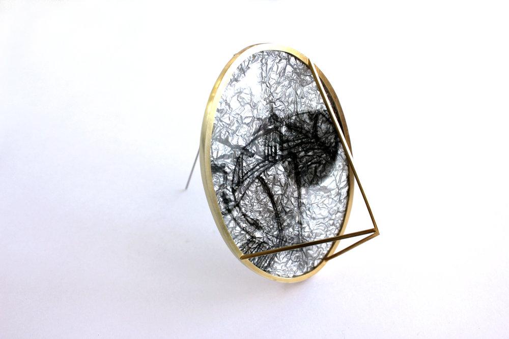 Brooch; Resin, 18ct gold plated silveredit.jpg