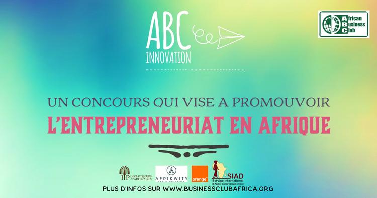 Vous êtes porteur d'un projet à destination de l'Afrique ? Vous êtes à la tête d'une start-up qui participe au développement socio-économique du continent ?  Alors vous serez peut-être un des lauréats du concours ABC Innovation récompensé dans les catégories Rebranding Africa, Impact social et She for Africa !