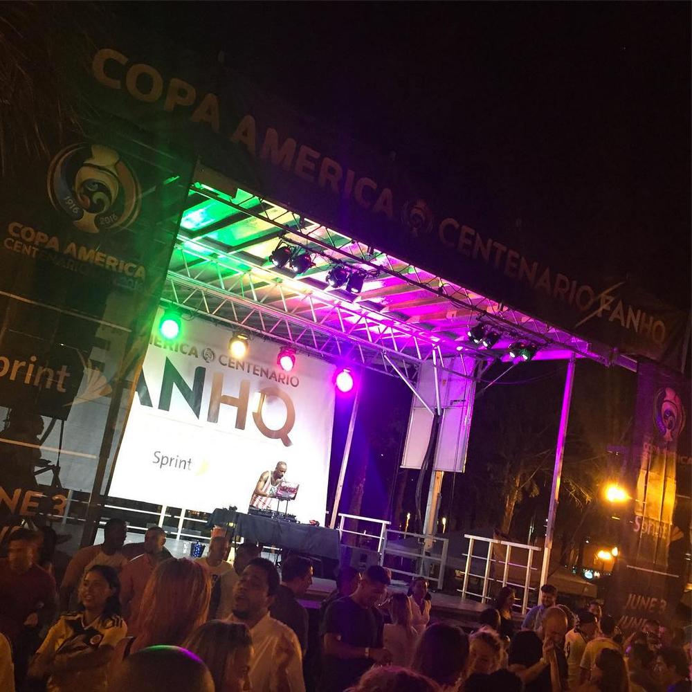 Step Up Productions staging for Copa America