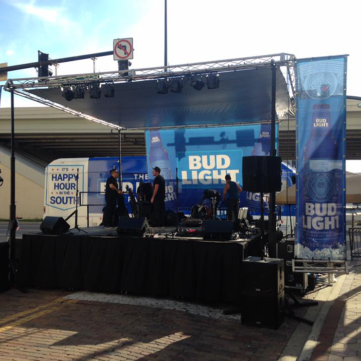 Step Up Productions Bud Light event staging and audio
