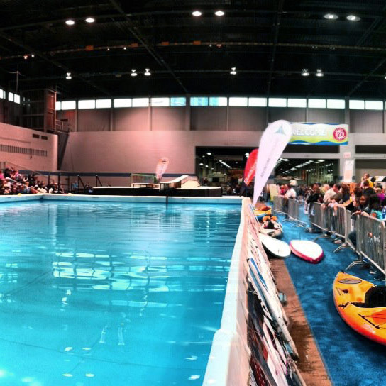 Step Up Productions pool demo at a boat show