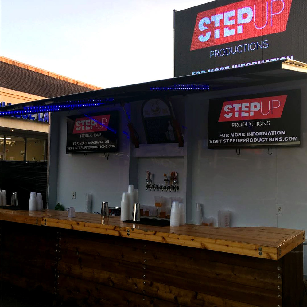 Step Up Productions signature mobile bar & video wall