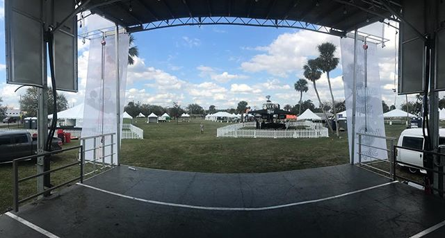Stage is set for the @orlandoweekly  #chilicookoff tomorrow. #stepupproductions #sl100 #mobilestage #eventproduction #stagerental #eventfencing #production