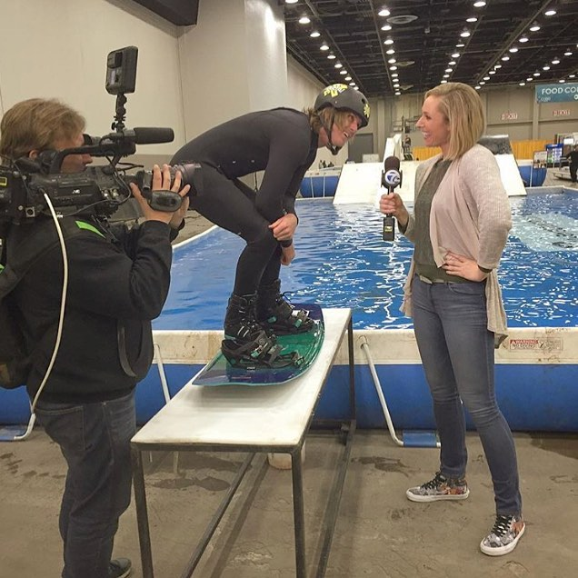#detroitboatshow #railjam #wakeboarding @jb_oneill #news #mediaday