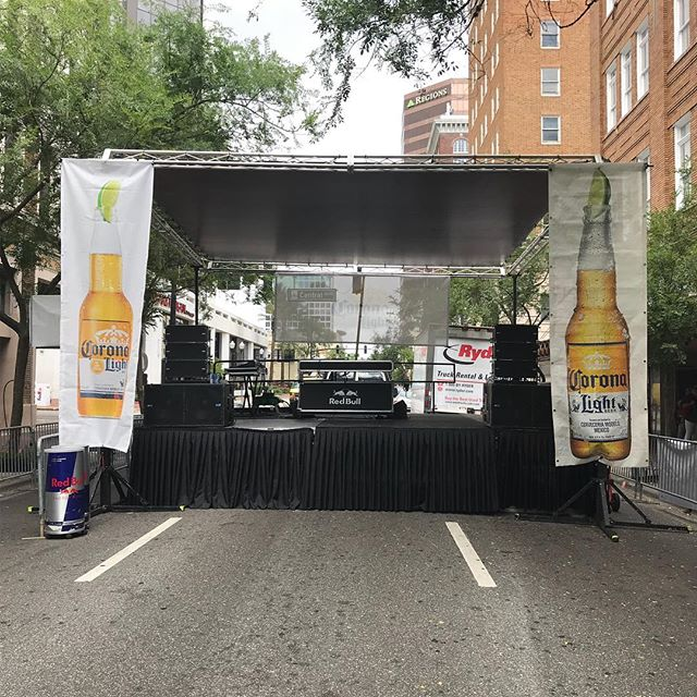 Orange Ave Block Party #mobilestage #eventproduction #stagerentalorlando