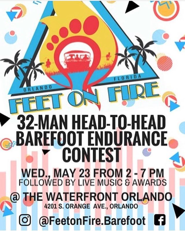 Starts at 2pm today! @feetonfire.barefoot.  Uber there and stay safe.  @nautiqueoforlando @effenvodka  @budlight @citybeverages @city2nite @redbull #feetonfire #stepupproductions @danotmano