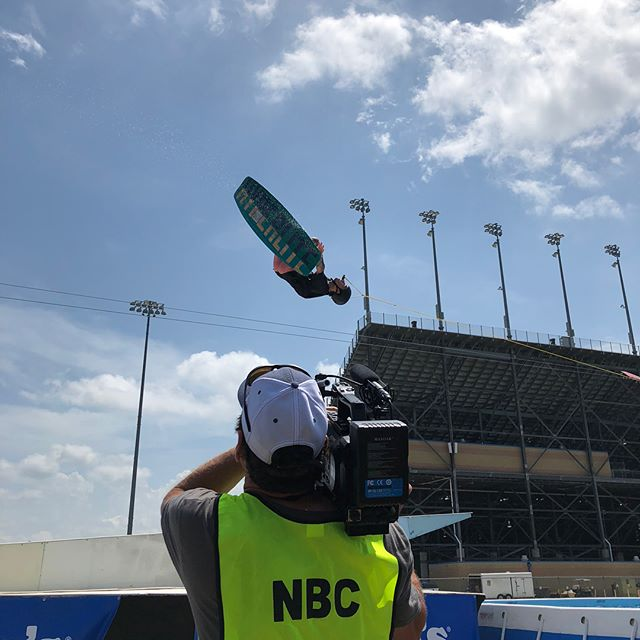 We had a great time @chicagolndspdwy.  Thanks @nbcsports for the love.  #wakeboarding #railjam #nascar