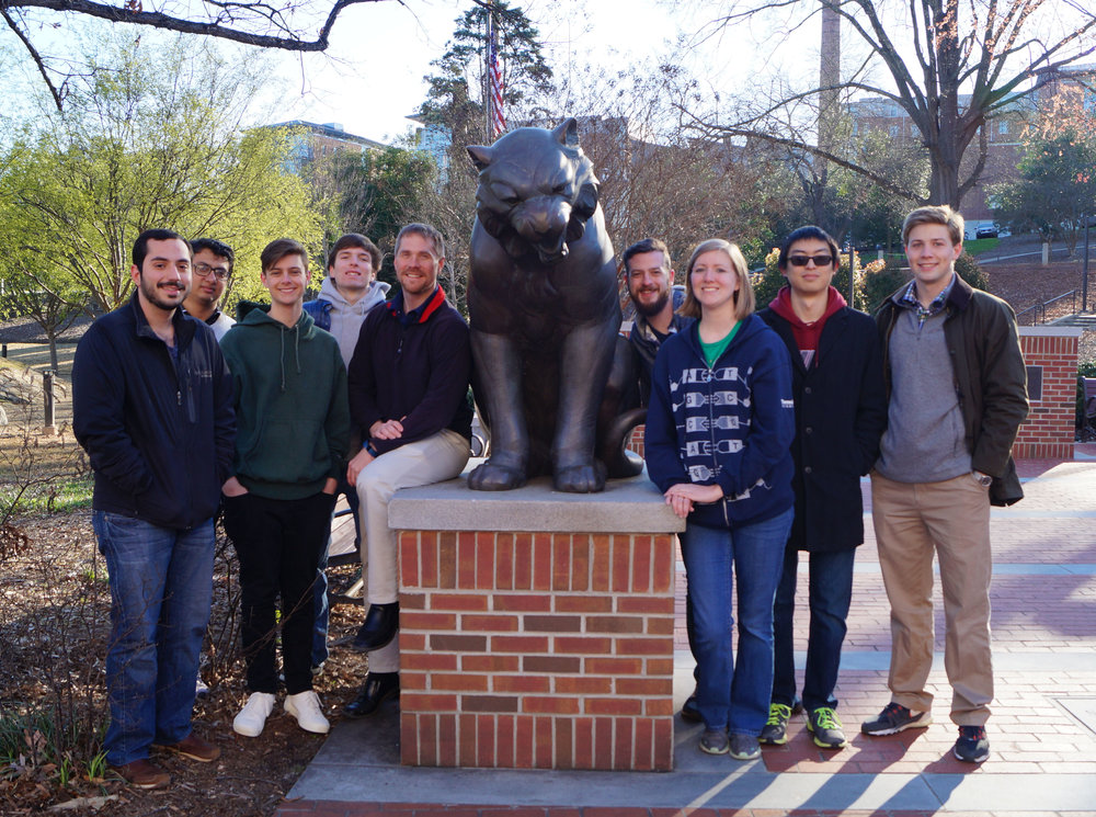 Lab group shot in spring 2018