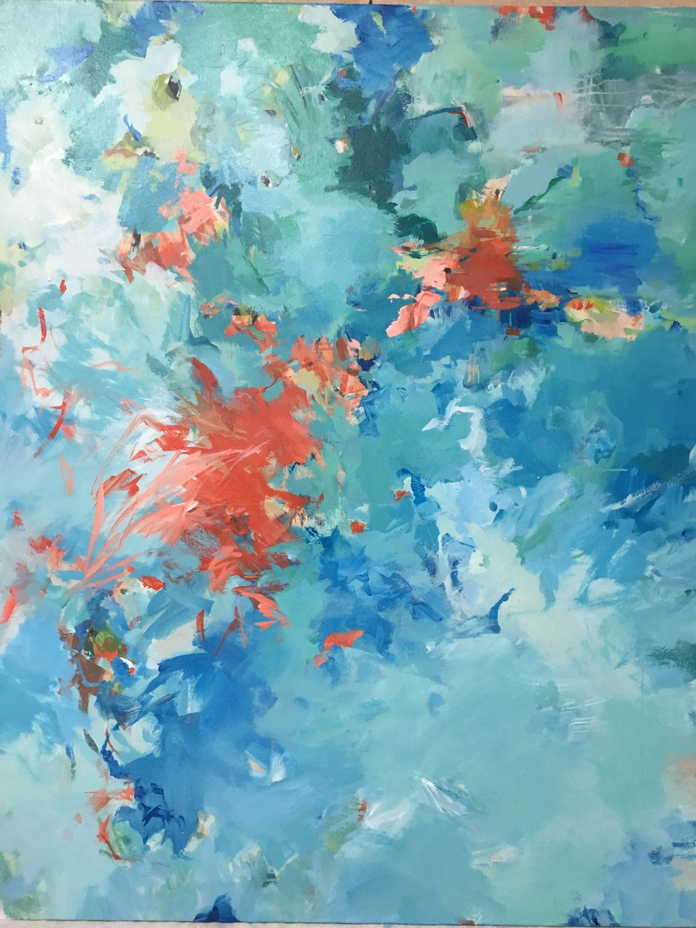 Bergamot 48 x 60 (mixed media on canvas)