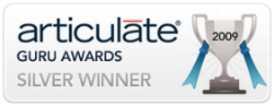 Silver award Winner of the 2009 Articulate Guru Awards for our introduction to Evernote.