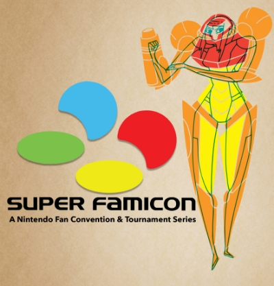SUPER FAMICON -- The POWER Within You! Original publicity artwork by Cassie Hart Kelly.