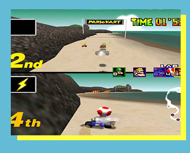 Mario Kart 64 (Nintendo 64) - FORMAT: Singles (1v1)SCHEDULE: 12 p.m. November 18ENTRY FEE: $5 Event Fee & Star, Mushroom, or Day PassLOCATION: TBA   SECTION: TBALIVESTREAM SCHEDULE: