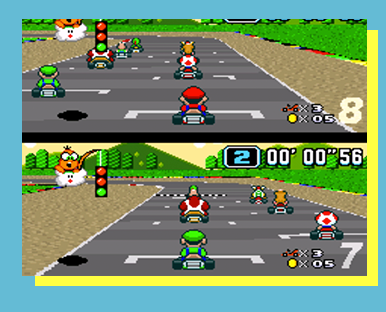 Super Mario Kart (SNES) - FORMAT: Singles (1v1)SCHEDULE: 12 p.m. November 19ENTRY FEE: $5 Event Fee & Star, Flower, or Day PassLOCATION: TBA      SECTION: TBALIVESTREAM SCHEDULE: