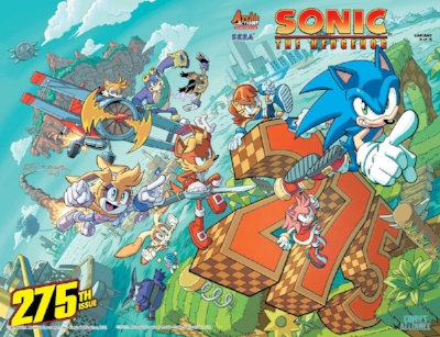 Tracy Yardley's cover for Sonic The Hedgehog #275, released by Archie Comics
