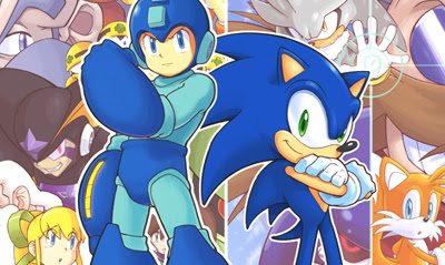 In Archie Comics' 12-part epic crossover, Sonic met Capcom's Mega Man in comics, long before they fought each other in Super Smash Bros. for WiiU.