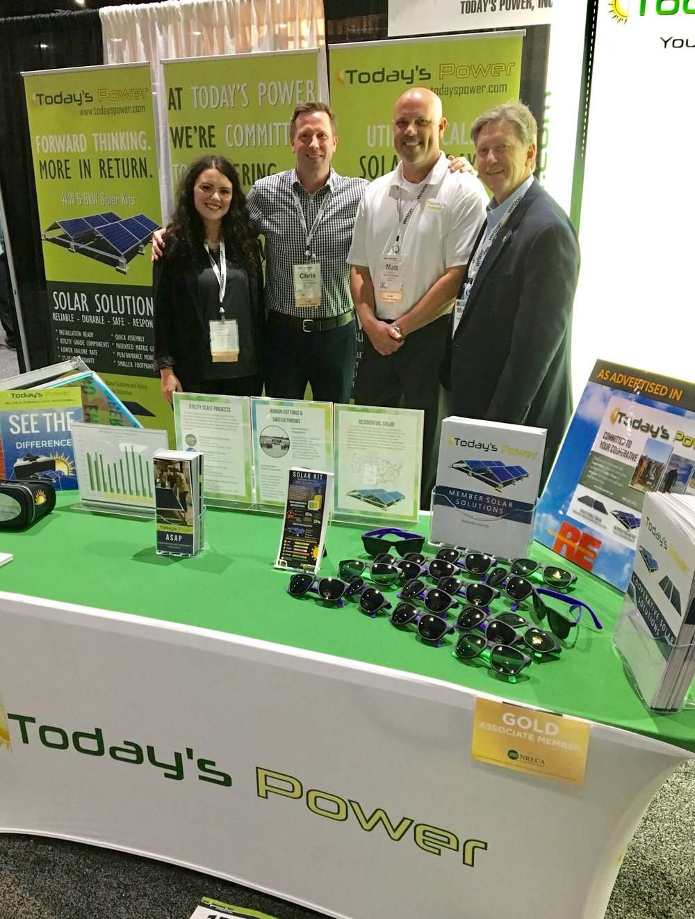 From Left to Right:  Jennah Denney  WOW Coordinator,  Chris Burnley  Director of Business Development,  Matt Irving,  Director of Operations,  and Michael Henderson,  President of Today's Power, Inc. & CFO of The Electric Cooperatives of Arkansas.