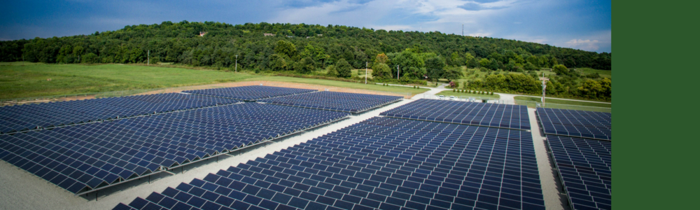 1 Megawatt Community Solar Array located at Ozarks Electric Cooperative in  Springdale, AR.