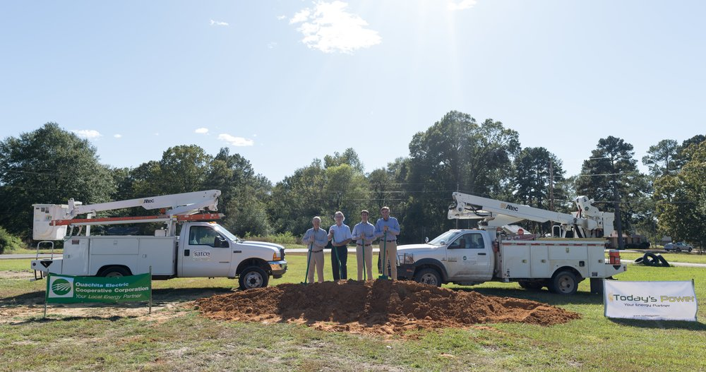 Members from SATCO at future solar site (From left to right:  Greg Ashcraft, David Wells, Lang Wells, Mark Lundy).