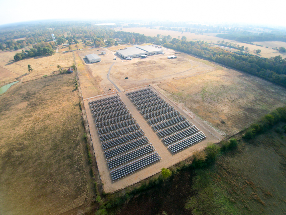 Husqvarna Group - 1.3 MW Ground Mounted System on Piers - NASHVILLE, ARKANSAS
