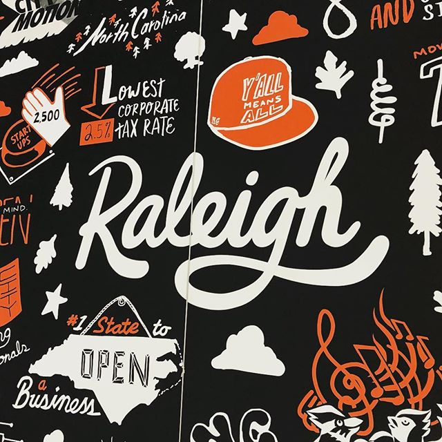 We did a thing and we are proud to represent our city down at #sxsw Thank you @Raleighwake @VisitRaleigh @Raleigh4u and most importantly @raleighmuralsproject for the opportunity to flex Raleigh's creative muscle 💪🏻💪🏼💪🏽💪🏾💪🏿 with this design! . . .  #picraleigh #sxsw2019 #assembehere