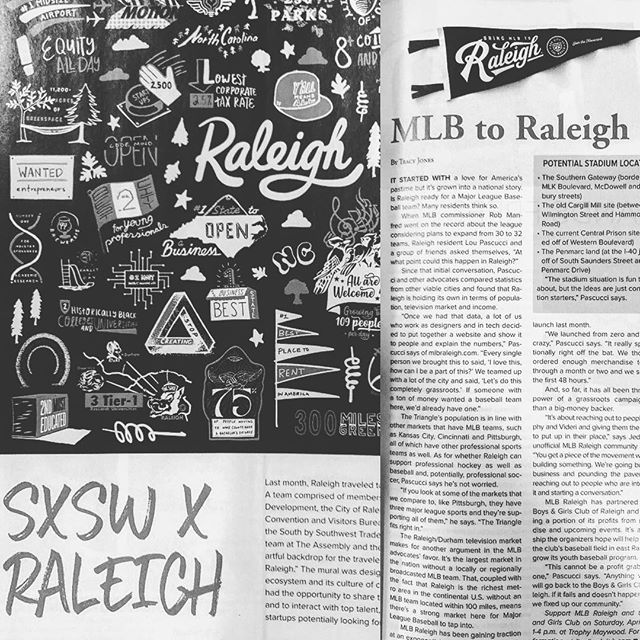I mean how cool is that? Our work is featured alongside our buddies at @mlbraleigh in the most recent issue of @raleighmagazine. Get it. #skillrecognizeskill #assemblehere