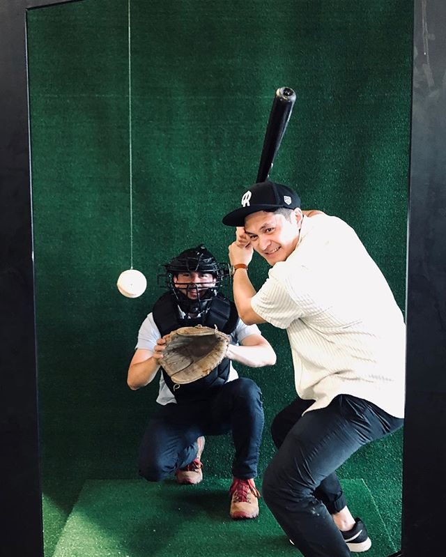 @mlbraleigh killed it today @trophymaywood and we were stoked to help make these baseball card themed photo ops for them! Love it when a plan and a community come together. #mlbraleigh #assemblehere #letsgetitraleigh