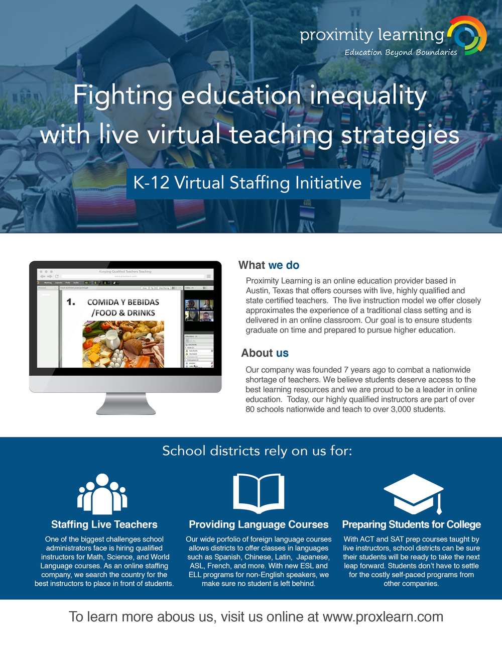 K-12 Virtual Staffing Initiative – ESL/College
