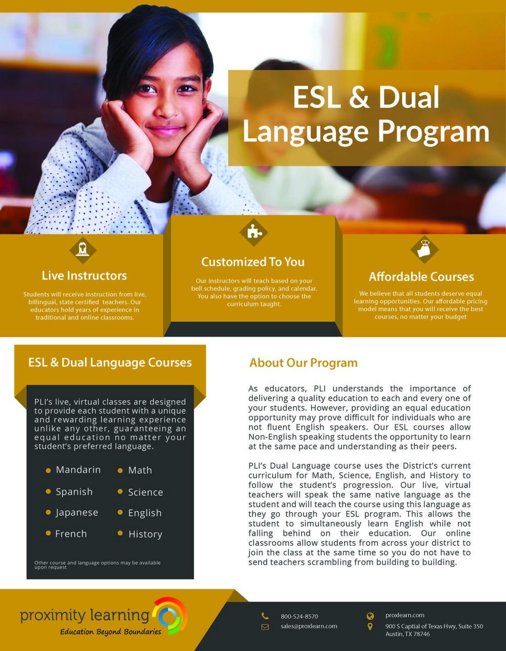ESL & Dual Language