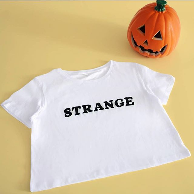 Less than a week to #halloween now! Have you got your outfit sorted? We have this spooky glow in the dark Strange cropped tee that'll be sure to make you stand out at any Halloween party!  SHOP AT HEROANDCAPE.COM
