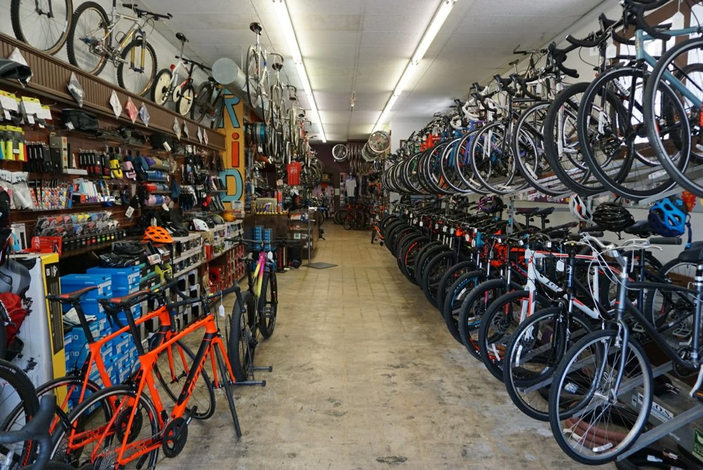 Inventory - We have a wide variety of bikes, parts and accessories in stock at all times. We have a comprehensive inventory of parts in stock to meet nearly every repair need. Lights, locks, bags, racks and more: if we don't have it in stock, we are usually able to special order it.
