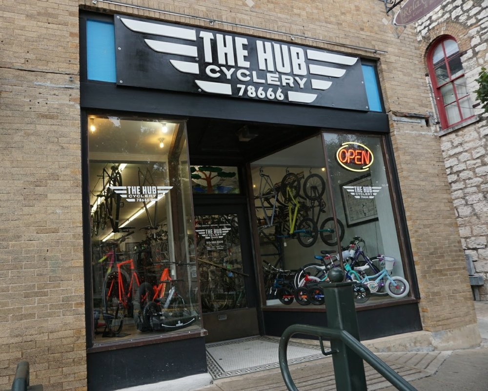 About The Hub - We opened our bike shop on the square in Downtown San Marcos in March 2008, and have been focused on providing quality bikes and service to the cyclists of Central Texas for over ten years. Our mechanics have extensive experience in all areas of cycling, and we strive to complete all repairs in 24 hours or less. We also provide custom build services, including wheel building and ground-up restorations.