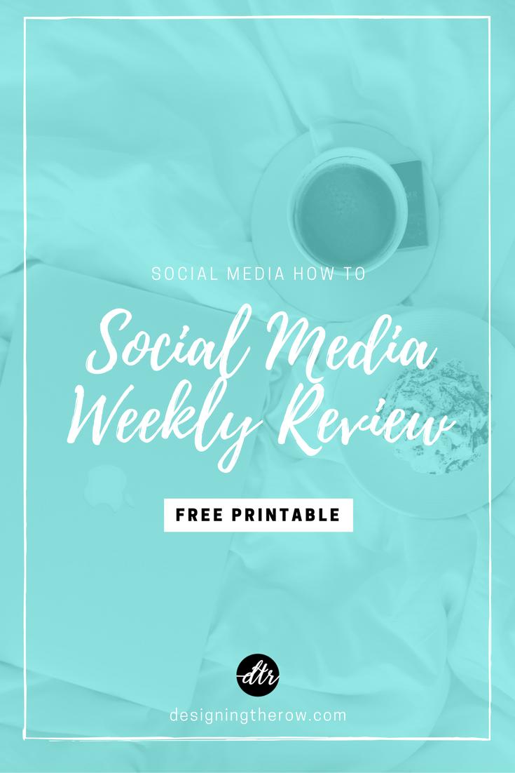Social Media Weekly Review free printable